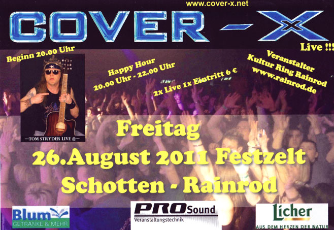 Cover-X Band in Schotten Rainrod