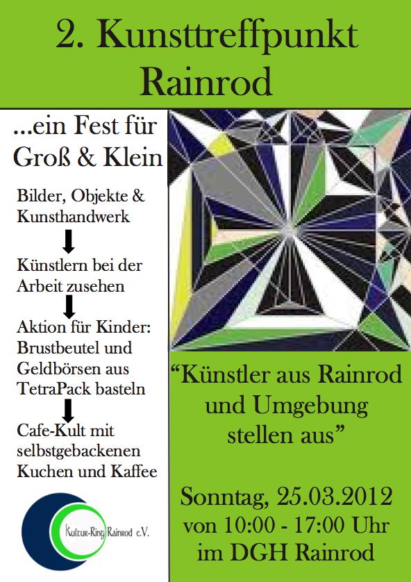 Kunsttreffpunkt Rainrod 2012 Flyer