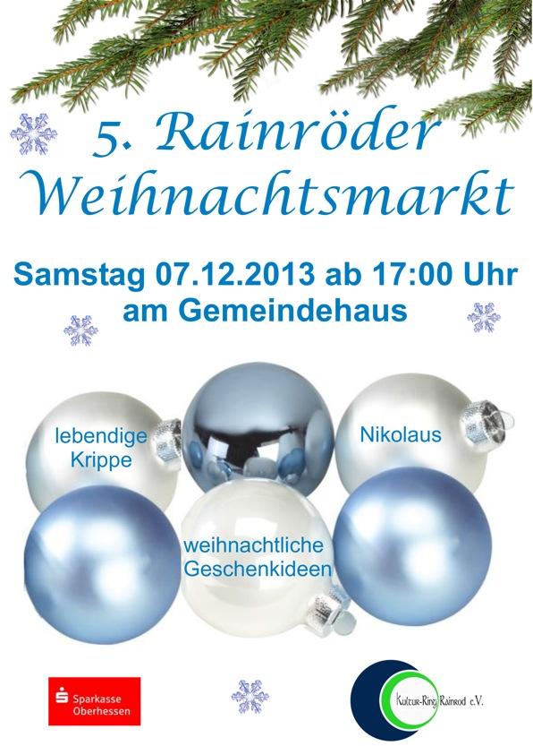 Weihnachtsmarkt Rainrod 2013 Flyer
