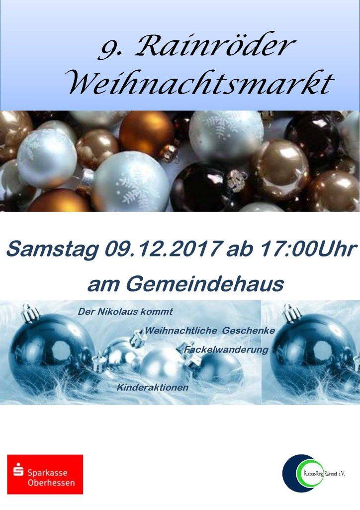 Flyer Weihnachtsmarkt 2017